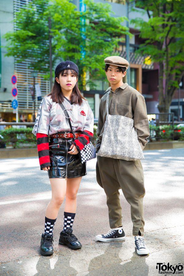 Harajuku Teens in Casual Vintage Streetwear Styles w/ Kappa, Warp, Spinns, Kangol & Christopher Nemeth
