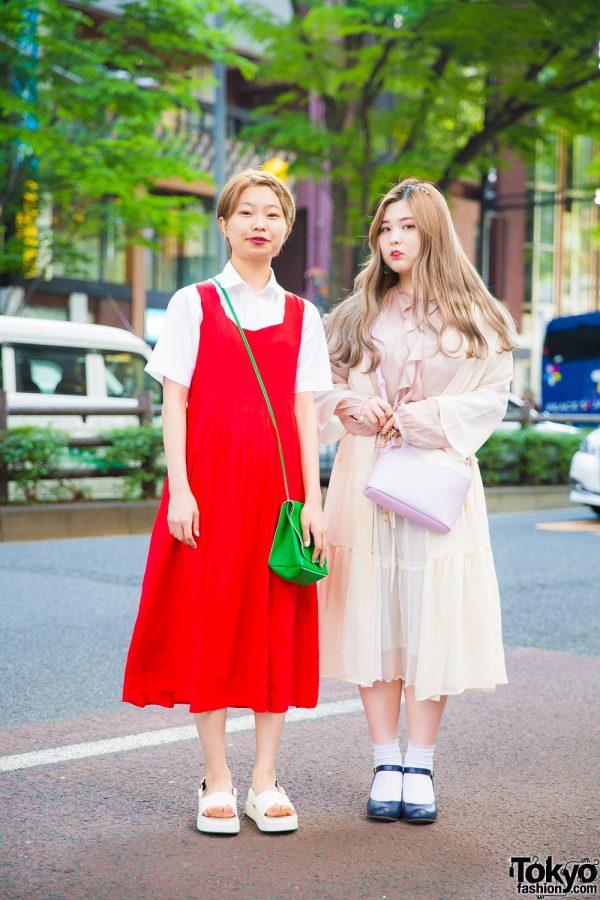 Harajuku Girls in Vintage & Handmade Street Styles