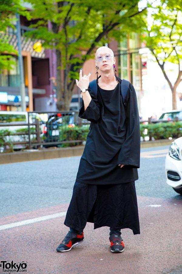 Monochrome Japanese Streetwear w/ Yohji Yamamoto, Vivienne Westwood & Y-3 Backpack