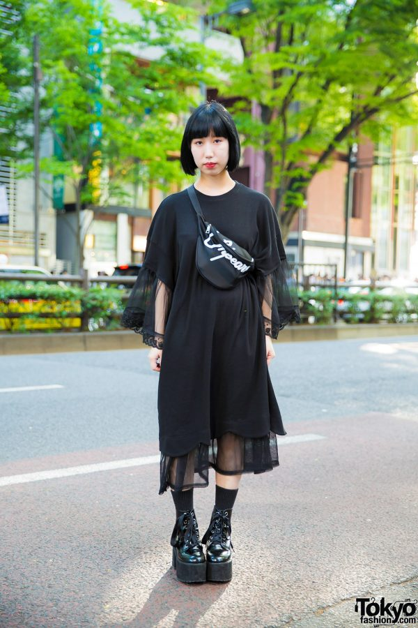 All-Black Harajuku Streetwear Style w/ Candy Stripper, Oh Pearl & Bubbles