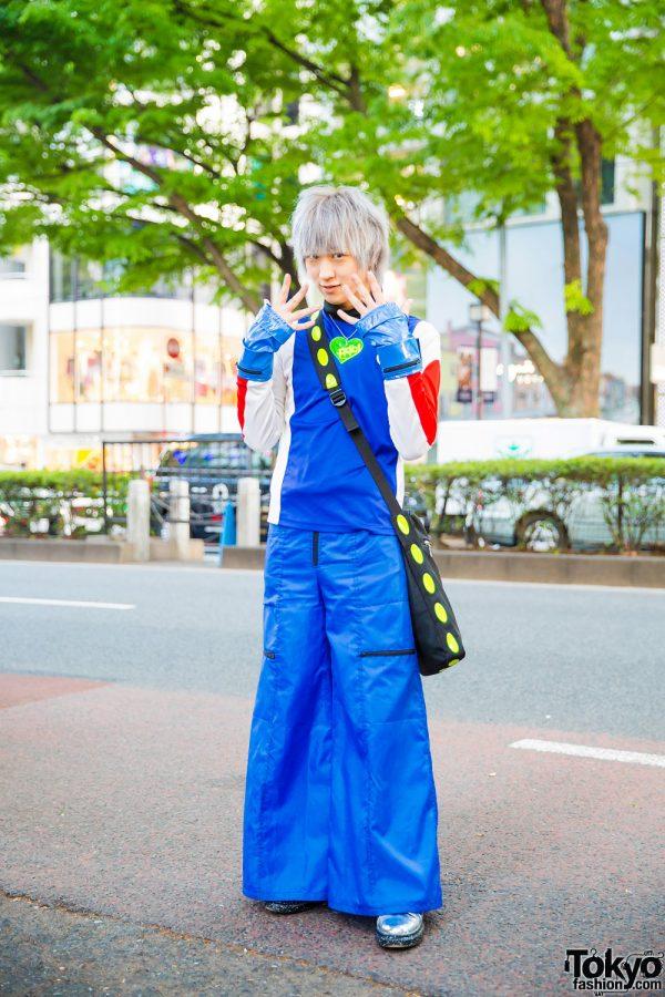 Harajuku Street Style w/ FOTUS Sweatshirt, Aika Electronics Flared Pants, Metallic Sneakers & PDC Heart Necklace