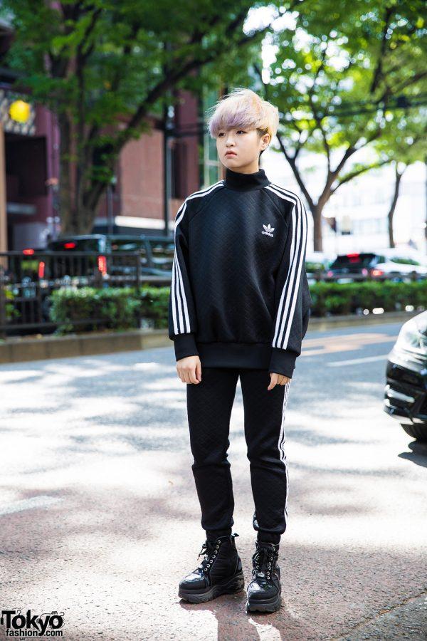 Monochrome Athletic Streetwear Style w/ Adidas & Yosuke