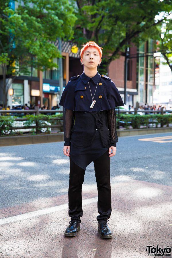Dark Harajuku Streetwear w/ Comme des Garcons, Dr. Martens Shoes & Ambush Lighter Holder