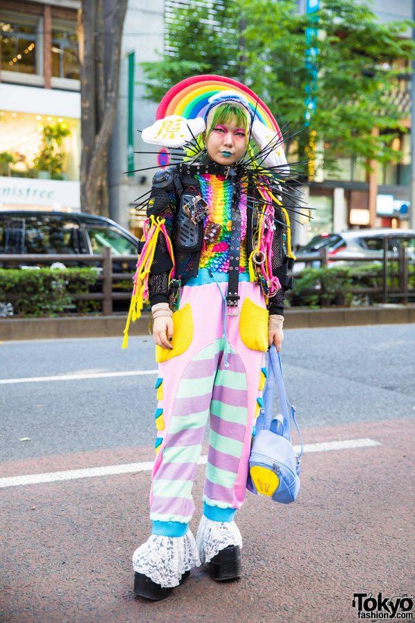 Rainbow Avant-Garde Harajuku Vintage & Handmade Street Style w/ Hayatochiri, Galaxxxy, Dolls Kill & Demonia