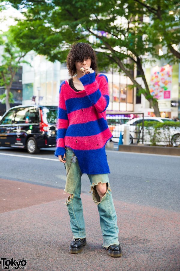 Tokyo Grunge-Inspired Streetwear Style w/ Nincompoop Capacity, Levi's Red, Dr. Martens, Tokyo Human Experiments, DMI & Hysteric Glamour
