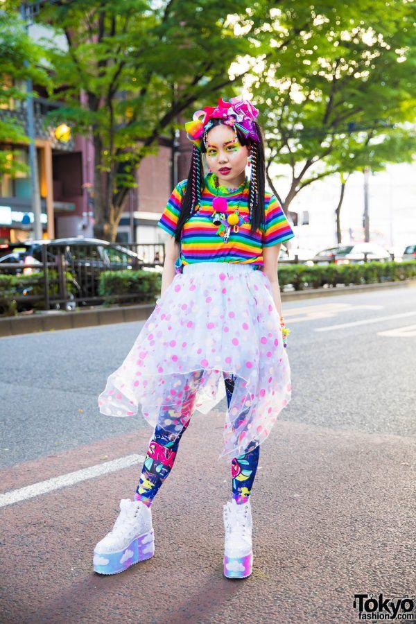 Tokyo Kawaii Colorful Street Style w/ WC, ACDC Rag, YRU, Claire's & 6%DOKIDOKI