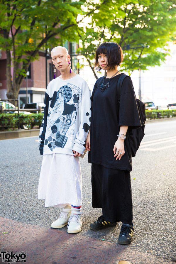 Tokyo Monochrome Vintage Streetwear Styles w/ CSG, Uniqlo, Adidas, Nyulycadelic, Claire's, GGdesign, Y-3 & Lucky Daikichi