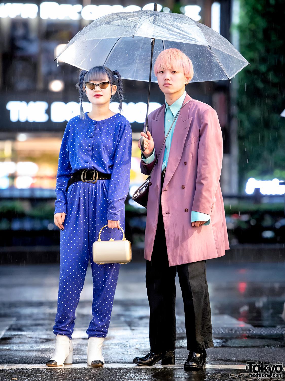 Rainy Harajuku Street Snaps W Punk Cake Vintage Jumpsuit