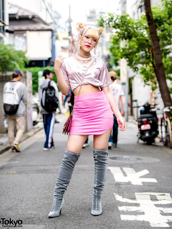 Tokyo Summer Street Style w/ (ME) Harajuku, One Spo, WEGO & Over-The-Knee Boots