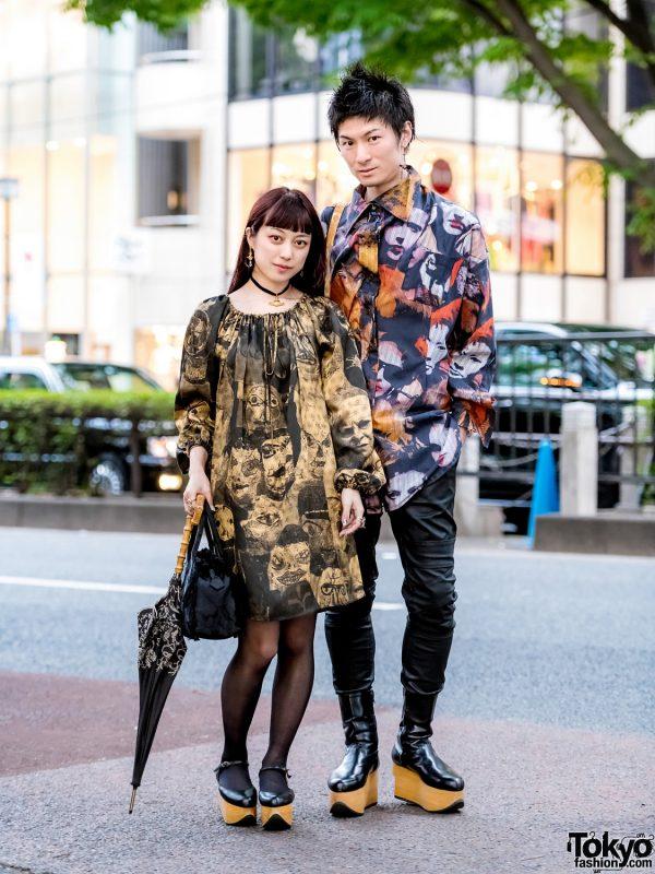Japanese Duo in Vivienne Westwood Printed Streetwear