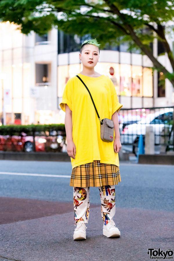 Harajuku Mixed Prints Fashion w/ San To Nibun No Ichi, Kobinai, Tokyo Bopper & OY Plaid Bag