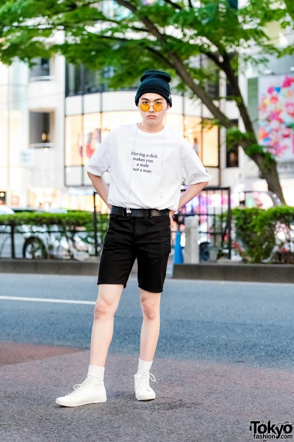 Monochrome Casual Street Style w/ Easy Busy, Forever21, Moussy & Open The Door