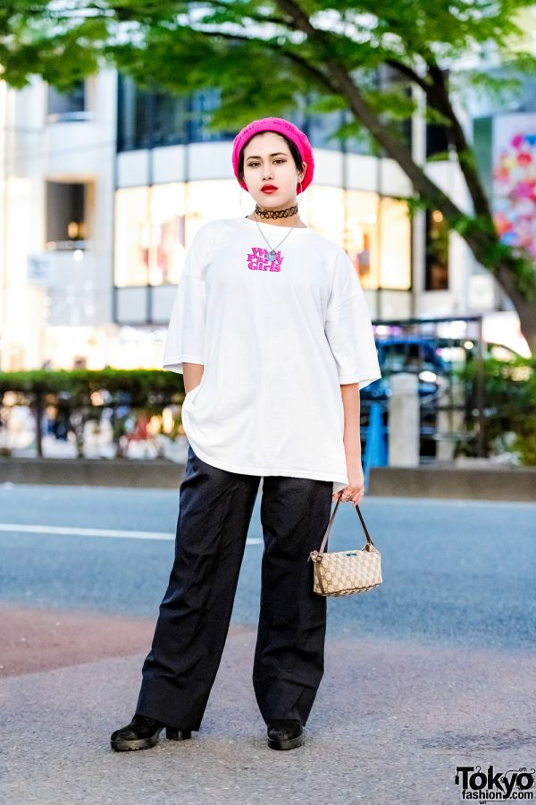 Casual Harajuku Street Style w/ Banny, Chicago Harajuku, Bershka, Zara, Oh Pearl & Gucci