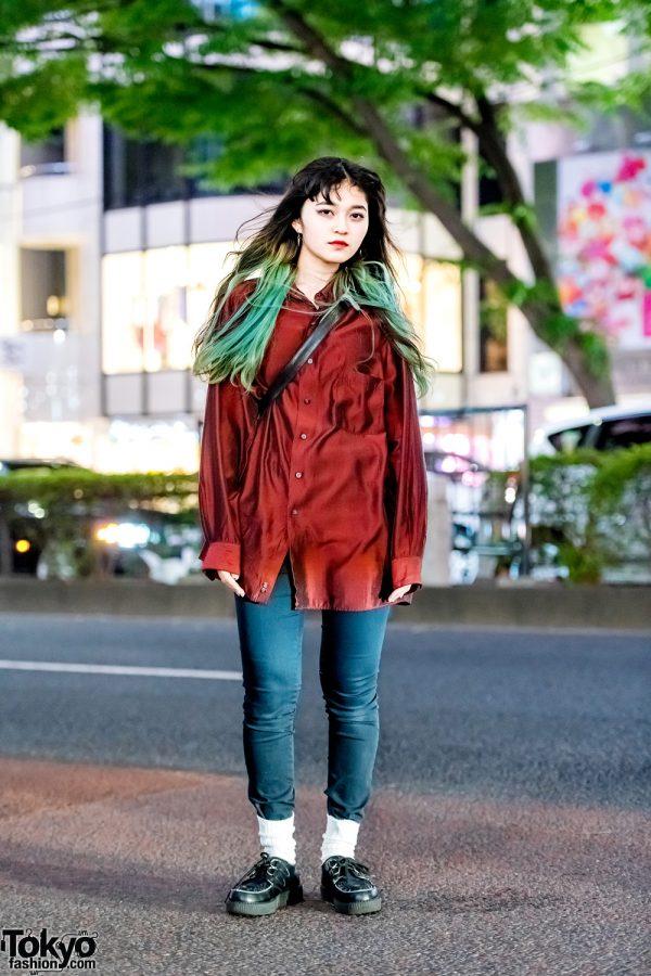 Harajuku Street Style w/ Dip-Dye Hair, H&M, Underground, Never Mind the XU & Thank You Mart