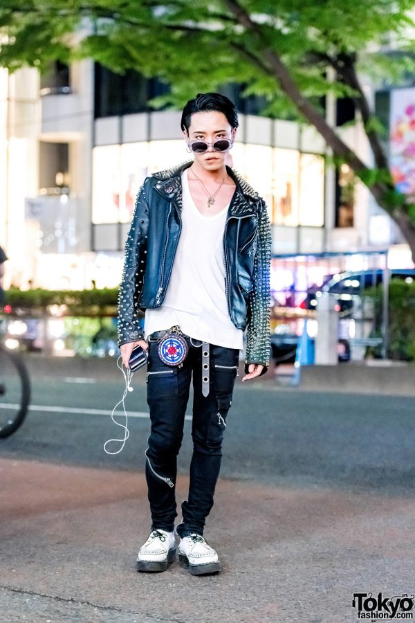 Monochrome Punk Street Style w/ 99%IS-, The Symbolic Tokyo, Alexander Wang & George Cox