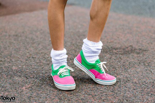 Vans Pink-and-Green Sneakers – Tokyo