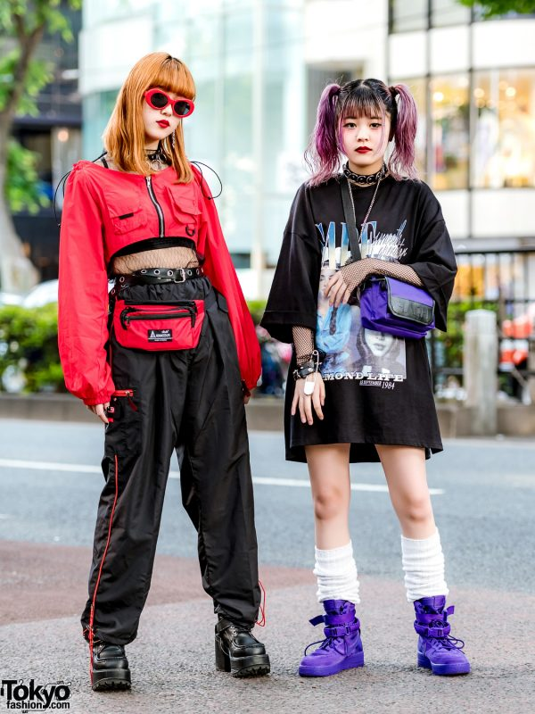 Harajuku Girls Streetwear w/ Sade T-Shirt, Never Mind the XU, Faith Tokyo, Nike & Out Of This World