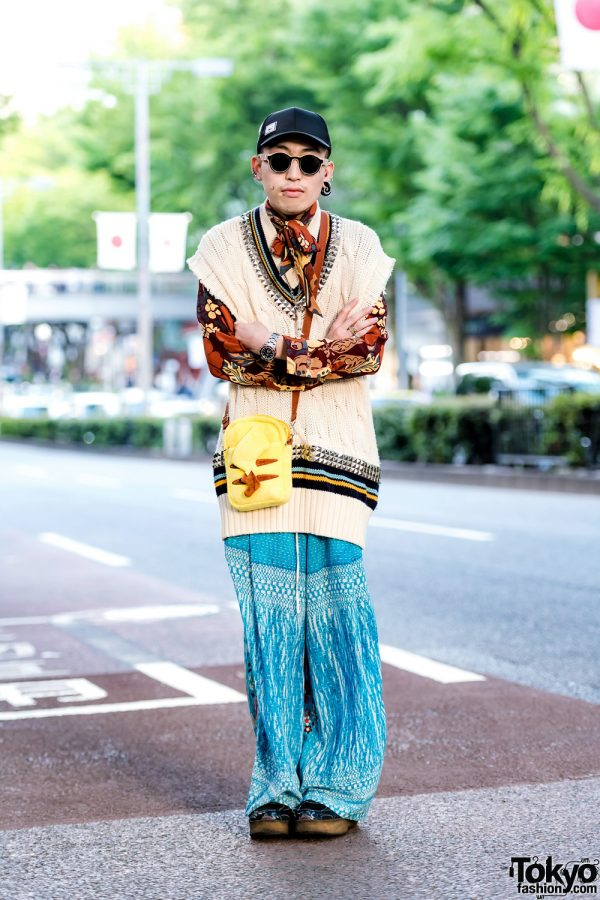 Eclectic Street Style in Harajuku w/ Maison Margiela, By Walid, Mikio Sakabe, Gem Kingdom & Pikachu Sling Bag