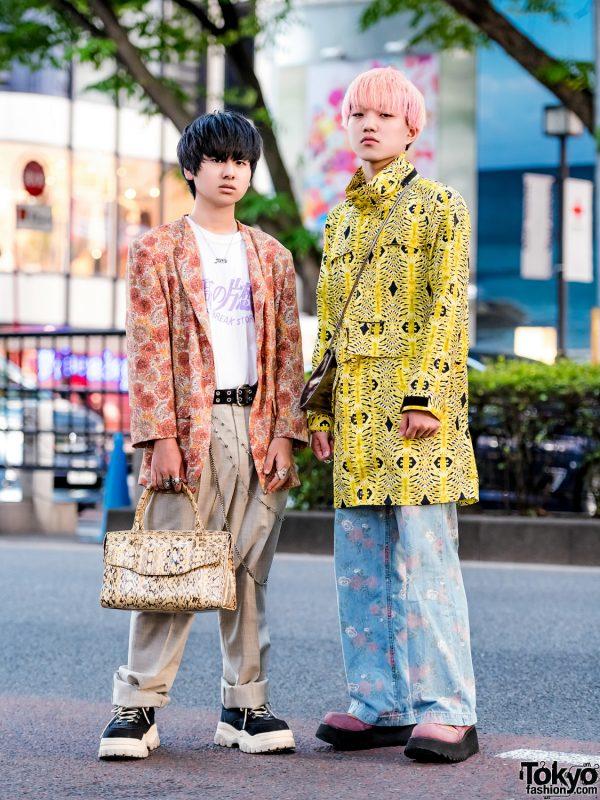 Japanese Mixed Prints Streetwear w/ Valentino, Nincompoop Capacity, Oh Pearl, Eytys, Kinji, Dissborn & DHL