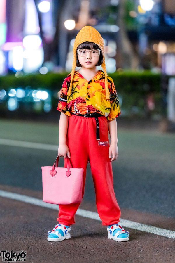 7-year-old Coco in Harajuku w/ Vintage Streetwear + Balenciaga, Fendi, Gucci & Childsplay Clothing