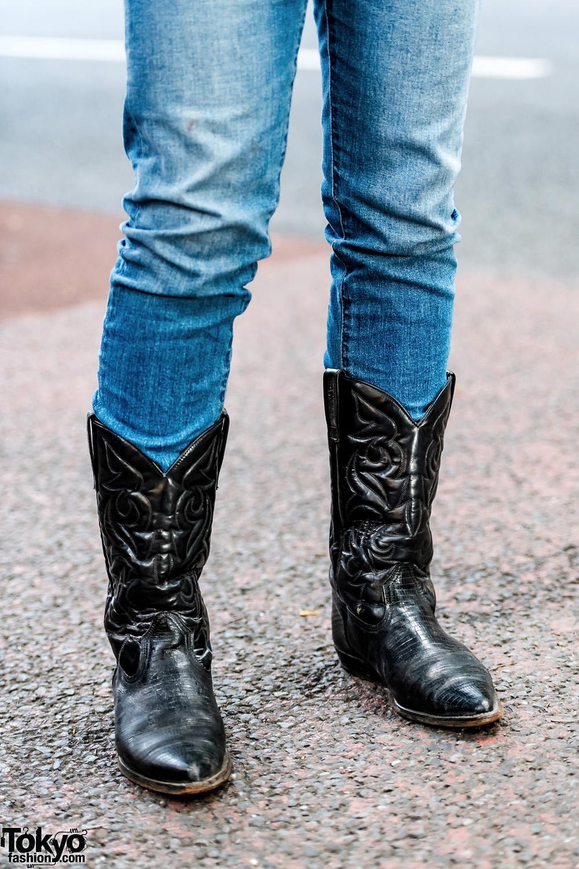 Harajuku Men S Streetwear Styles W Cowboy Boots Fringe