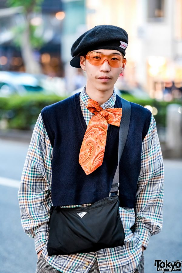 2b9e08c85bdf Full article for this photo : Tokyo Vintage & Plaid Streetwear Styles w/ Neck  Tie in Bow, Loverboy, The North Face, Midwest, Prada, Converse, ...
