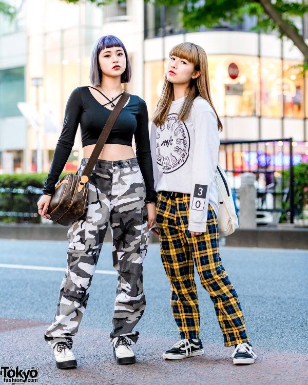 Harajuku Girls' Street Styles w/ Forever21, Rothco, Louis Vuitton, ME Harajuku, Thrasher & Vans