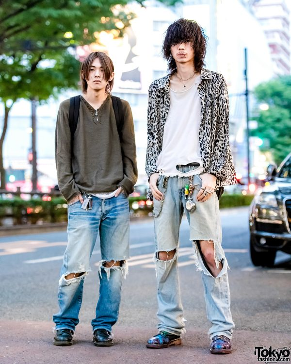 Harajuku Guys in Ripped Denim w/ Levi's, Hysteric Glamour, Bounty Hunter, Vivienne Westwood, Dr. Martens & Tokyo Human Experiments