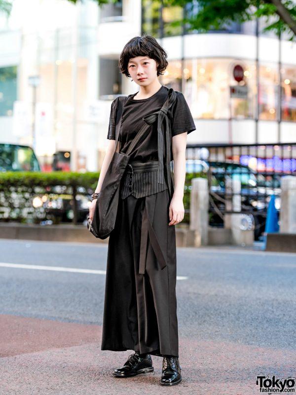 Minimalist Japanese Street Fashion w/ Yohji Yamamoto, 3/4 Three Quarter, Church's Shoes & Givenchy