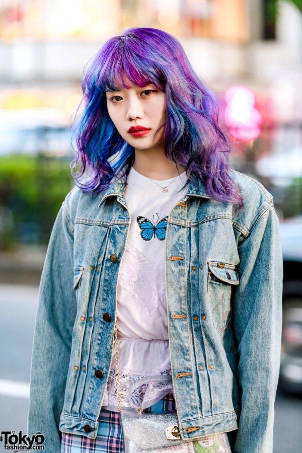 Elleanor In Harajuku W Kinji Denim Jacket Lace Camisole