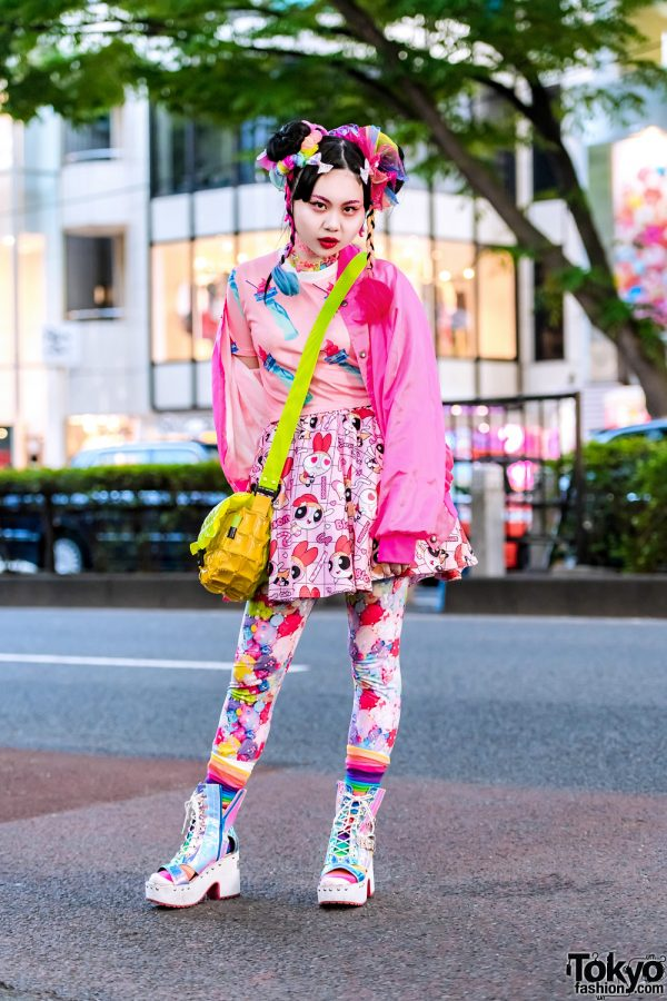 Colorful Kawaii Vintage Street Fashion w/ ACDC Rag, Claire's & Yosuke