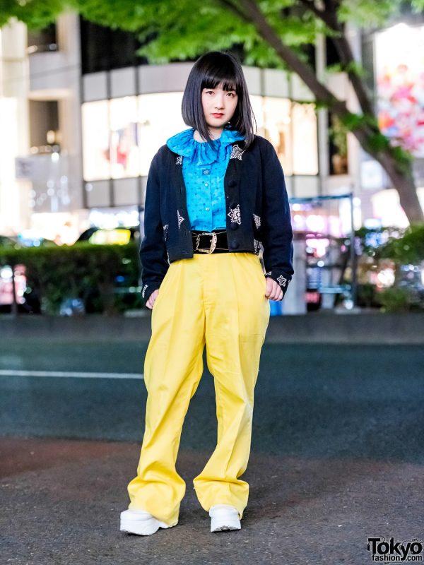 Harajuku Girl in Vintage Street Fashion w/ Punk Cake, Faith Tokyo & Yosuke