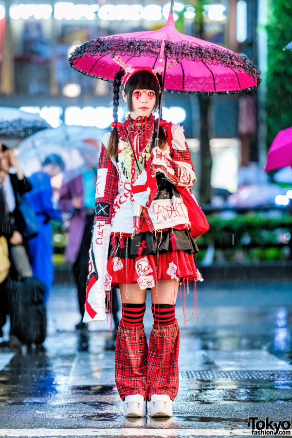 Harajuku Girl in Punk-Gothic Handmade Fashion, ACDC Rag & Yosuke USA