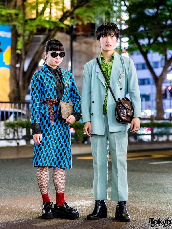 Harajuku Girl & Harajuku Boy in Vintage Tokyo Streetwear Styles