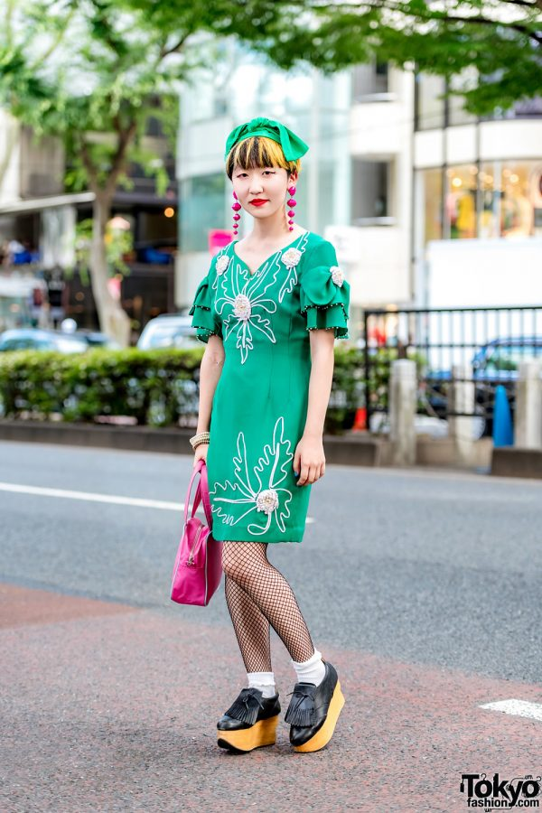 Harajuku Street Style w/ Punk Cake Vintage Dress, Vivienne Westwood Rocking Horse Shoes & Comme des Garcons Bag
