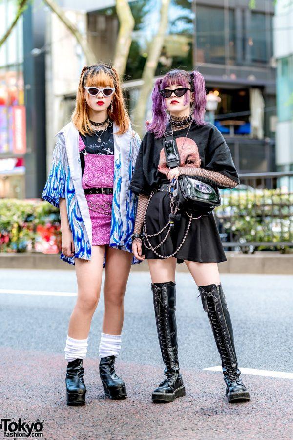 Tokyo Girls Edgy Street Styles w/ Never Mind the XU, ME Harajuku, WEGO, Demonia, DYOG & Mabataki