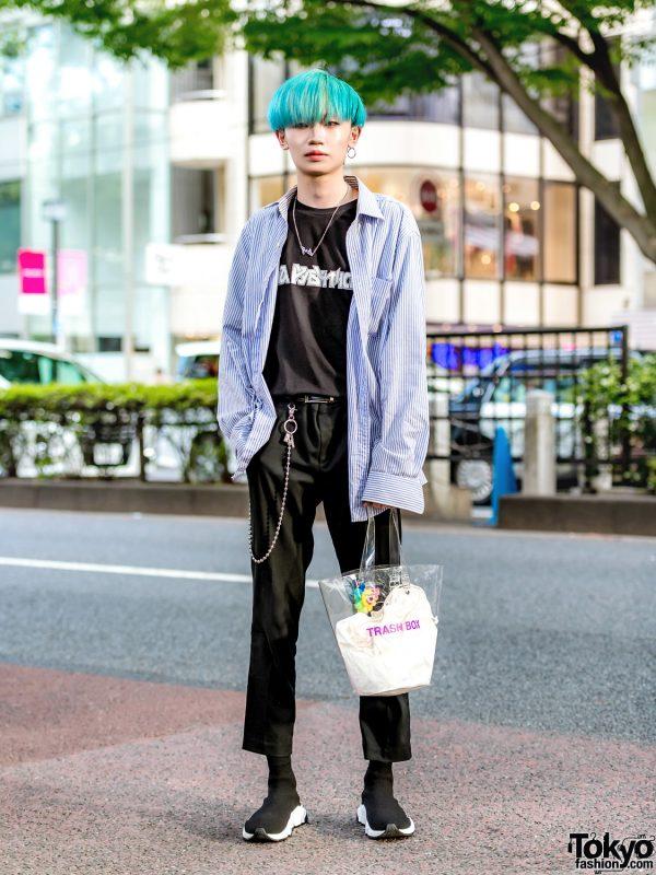 Japanese Streetwear Style W Aqua Bob Tommy Hilfiger