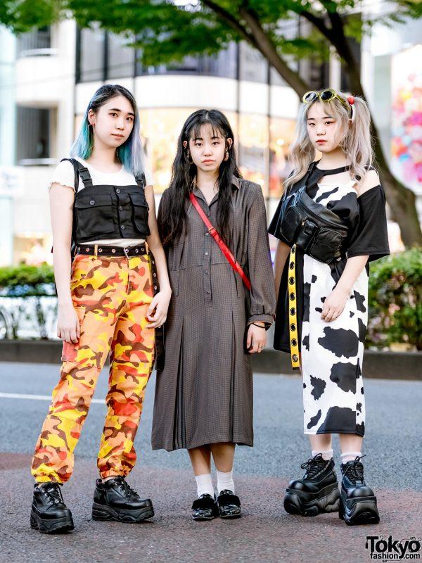 Harajuku Girls Streetwear Styles w/ One Spo, More Than Dope, Yosuke, Burberry, Zara & Demonia