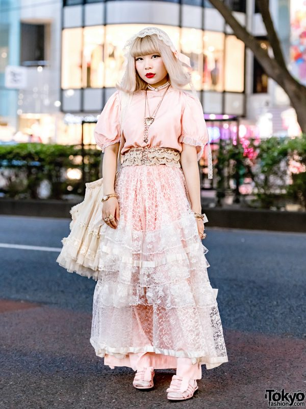 Antique & Vintage Tokyo Street Style w/ Priere Headdress, Curios, Anutrof, Favorite Bear, F-Troupe & Ruka