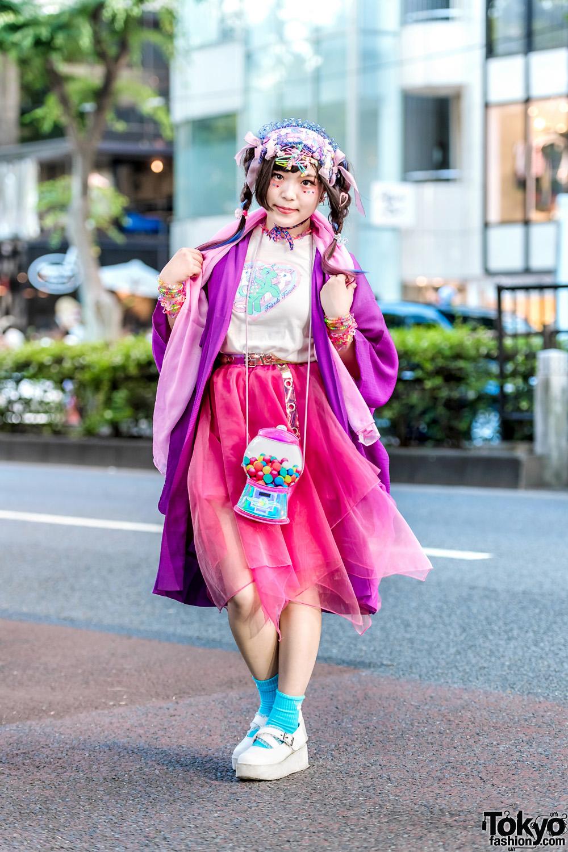 Japanese Decora Street Style In Harajuku W Kimono Kabukis