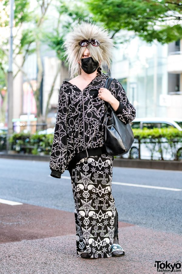 All Over Print Harajuku Street Style w/ Spiky Hair, Monomania, Moussy & Buffalo Bob's