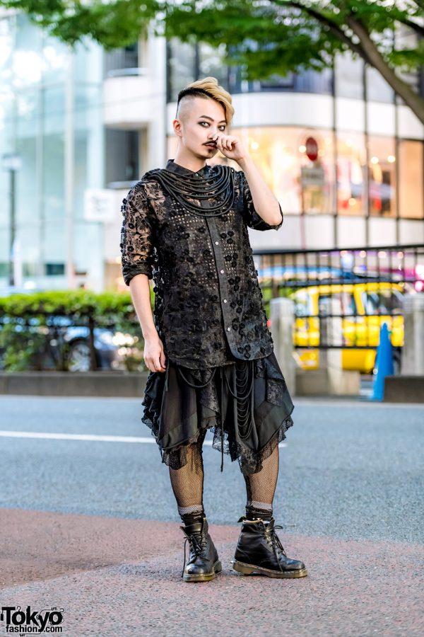 All-Black Harajuku Streetwear Style w/ H.T.Maniac, MalkoMalka, BeautiK & Dr. Martens