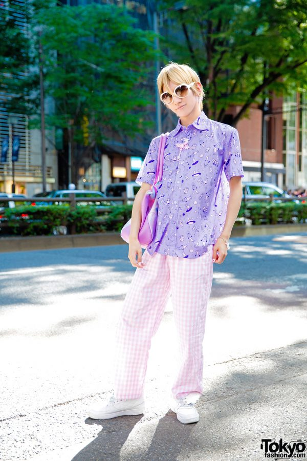 Japanese Mangaka / Artist in Pink Purple Harajuku Fashion w/ 2.5 Spinns, WC, Milk, Dior & Winged Sneakers