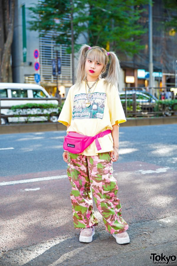 Harajuku Girl w/ Twin Tails, More Than Dope T-Shirt, Pinnap Camo, Nadia & 7% More Pink