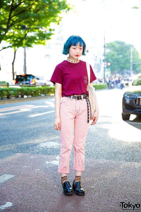 Blue-Haired Harajuku Girl Street Style w/ MYOB NYC, Kinji Harajuku & Titicaca