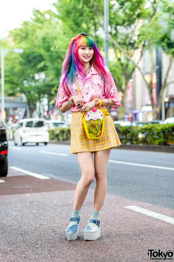 Harajuku NeoFairy Fashion w/ Rainbow Hair, Esther Kim & WC, Neon Moon, Swimmer & Merry Jenny