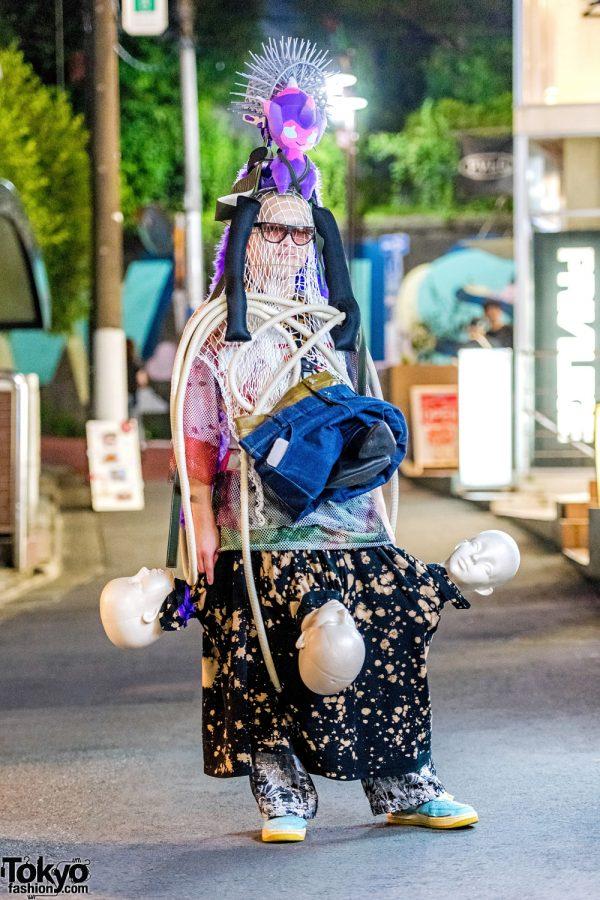 Mannequin Heads & Handmade Avant-Garde Harajuku Street Fashion w/ Cordyceps & Mused