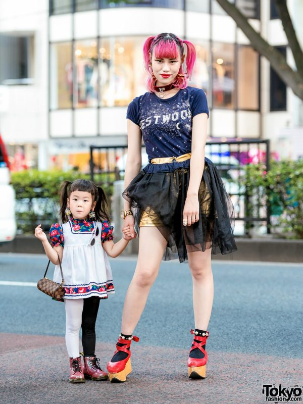 The Ivy Tokyo Mother & Daughter Street Styles w/ Vivienne Westwood, Nutty Little Room&Deco, LV & Dr. Martens