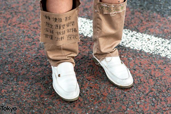 Vintage Harajuku Streetwear Fashion W Pinstripe Blazer