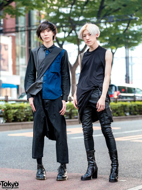 Japanese Streetwear Styles w/ Rick Owens, Black Comme des Garcons, DRKSHDW Leather Pants & Dr. Martens Boots